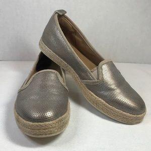 Clark's Soft Metallic Perforated Espadrille Shoe